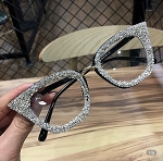 Silver Cat-Eye Frames