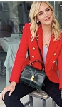 Red Blazer with Gold Buttons