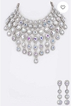 Crystal Bridal Necklace Set